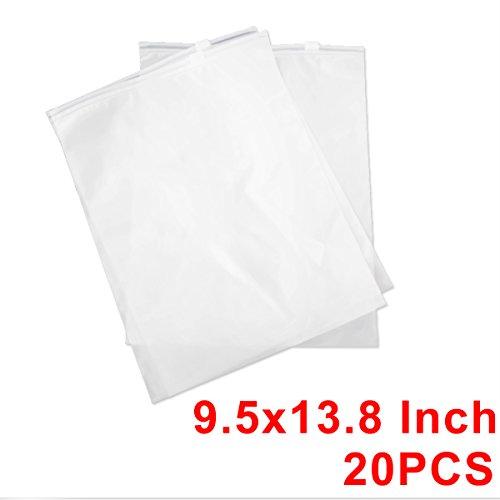 20PCS ziplock Scrub Bolsas Bolsa de almacenamiento de embalaje imperme