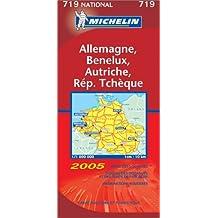 Carte routière : Allemagne - Bénélux - Autriche - République Tchèque