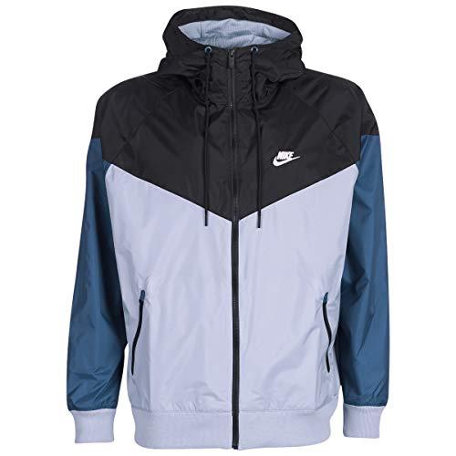 Nike Sportswear Windrunner Jacken Herren Grau/Schwarz/Blau - L - Windjacken - Blaue Und Nike-jacke Schwarze