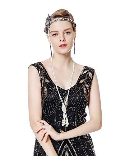 Metme Perlenkette für Charleston Kostüm 20er Jahre Perlen Kette