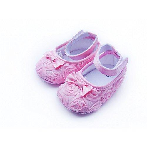 Rosa La Sapatos Walker Bebê De Panóplia Bebê Sapatos Petits De Meses 9 rFrgWf
