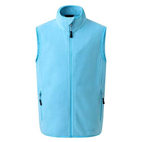 Eono Essentials Junior-Fleece-Weste (Cyanblau, 116)|fleecejacke|winterjacke jungen