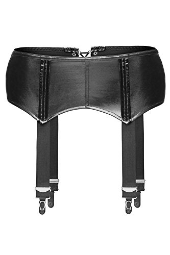 #Noir Handmade Damen F034 Aufreizender Strapsgürtel, schwarz, Größe 2XL#