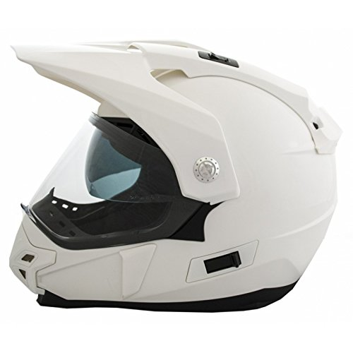 Casco Moto LEM - Trail - BLANCO BRILLO (XL)