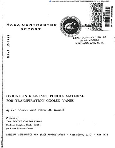 Oxidation resistant porous material for transpiration cooled vanes (English Edition)
