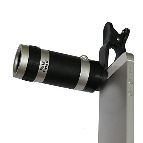 Universal 8x Teleskop Teleobjektiv Kamera Objektiv für Handy iPhone 4S 55S 5C 6Plus Samsung S6S5S4S3Galaxy Note 23(2) (4s Kamera-objektive Iphone Für)