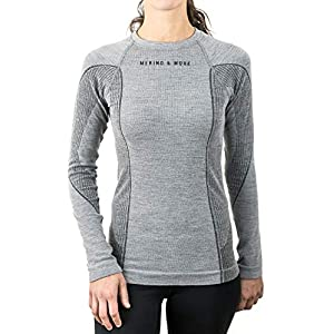 Merino & More Damen Skiunterwäsche Merinowolle lang – Funktionsunterhemd Langarm