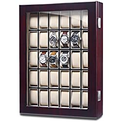 Hermann Jäckle Ludwigsburg Watch Cabinet for 30 Watches - Dark Mahagony