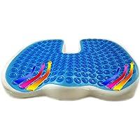 Preisvergleich für SHKY Gel Verstärktes Kissen-Rutschfeste Orthopädische Memory-Schaumkissen Mit Rückgrat-Schmerzen-Bürostuhl-Sitzkissen-Rückenschmerzen und Ischias-Relief