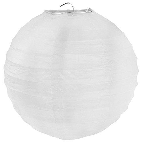 Lampion in weiß - Grösse L / Durchmesser 30cm - 2er Pack