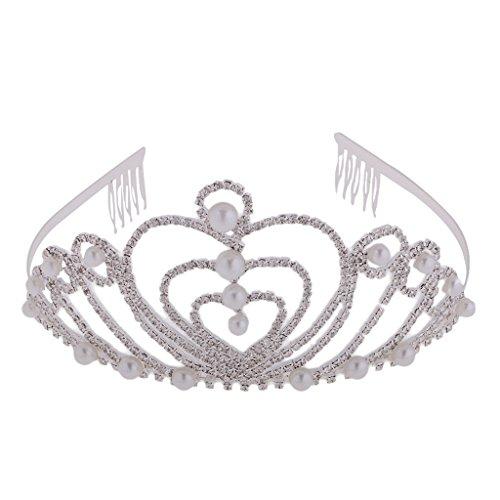 ume Perlen Stirnband Kopfstück Haarschmuck Kostüm - Silber Weiss #4 (Vier Mädchen Kostüme)