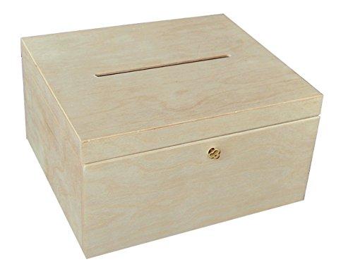 Holz hölzerner Kasten Kisten Box Schatulle Kästchen Hochzeit Karten unbemalt und einfach verschließbar - sehr schön! Decoupage! Handwerk (P29/15zs)