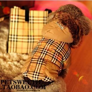 YU-K Cani abbigliamento abbigliamento piccolo cane mezzo abbigliamento abbigliamento cane cane grande vestiti tralicciati cowboy , polvere bianco a scacchi in ,XS