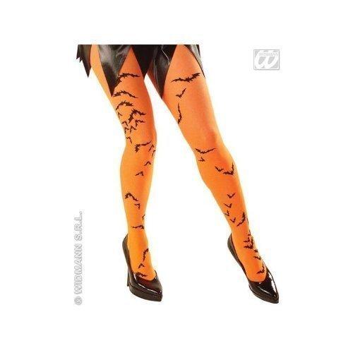 Fledermausaufdruck in orange (Orange Fliegende Hexe Kostüme)