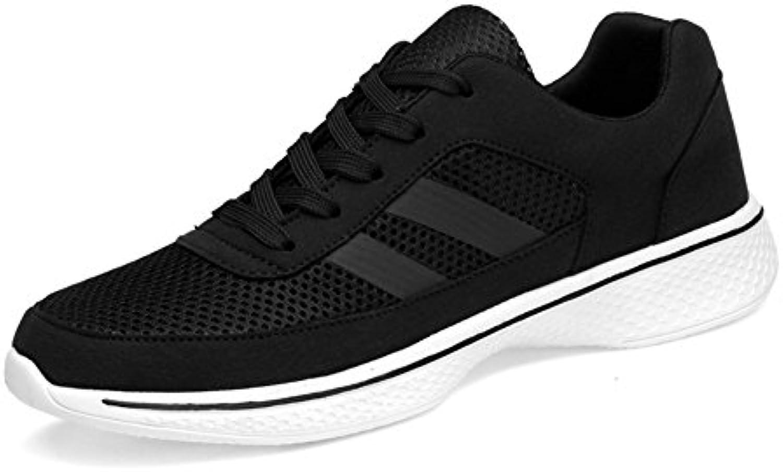 Zapatos de Hombre de Cuero Primavera Otoño Confort Zapatillas Zapatillas de Correr Ligero con Cordones para Atlético  -
