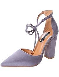 Minetom Donna Estate Scarpe Col Tacco Stiletto Elegante Cinturino Caviglia Tacco  Alto Pompe Partito Sandali Con 2b2a60c2a9c