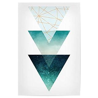 artboxONE Poster 30x20 cm Geometrie Geo Triangles Hochwertiger Design Kunstdruck - Bild Geometrie von Linsay Macdonald