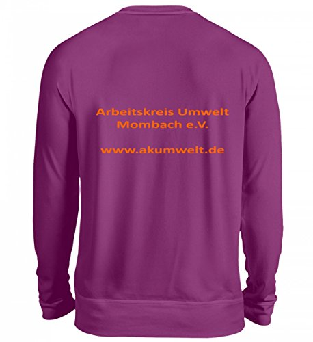 Alta Qualità Unisex Sweashirt - Vereins-tshrit Ak Ambiente Mombach Viola Scuro