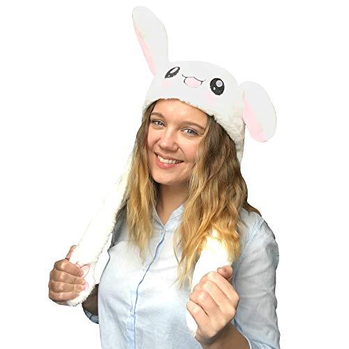 JSVER Lustige Spielzeug Bunny Hat Kaninchen Hutes Kneifen Kaninchen Ohren Airbag Beweglich Hutes Plüsch Niedlichen Hut /Animal Hat als Geschenk für Frauen und Kinder (Die Halloween-kinder Spiele Für Lustige)