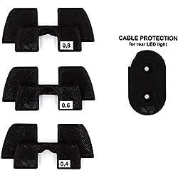Amortiguador de Goma Flexible Anti Holgura y Vibración Para Xiaomi Mijia M365 M187 Pro Scooter Eléctrico, Pieza Protección Led, M365 Accesorios, Patinete Electrico, Accesorios Xiaomi Mijia M366