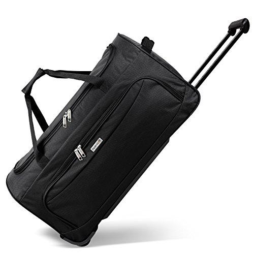 noorsk Geräumige Reisetasche Sporttasche in Verschiedenen Farben - XL - Schwarz