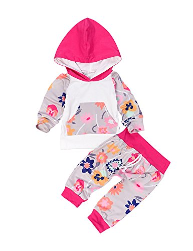 WEANT Outdoor Infant Baby 2 Kleinkind Kürbis T-Shirt Tops + Hose Outfits (Dress Ideen Up Halloween Cute Für)