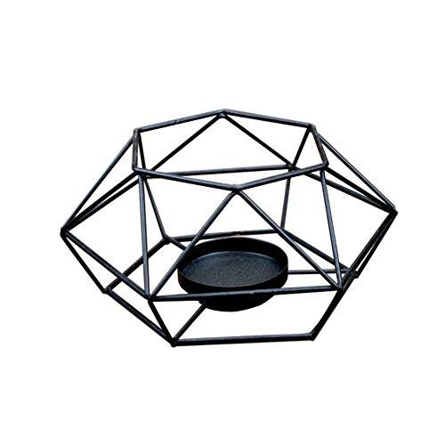 Kentop Candelabro eléctrico geométricas portavelas