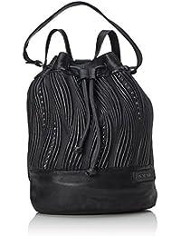 Taschendieb TD624 - Mochila de piel para mujer, color Negro Schwarz (anthra), 47x35x12 cm (B x H x T)