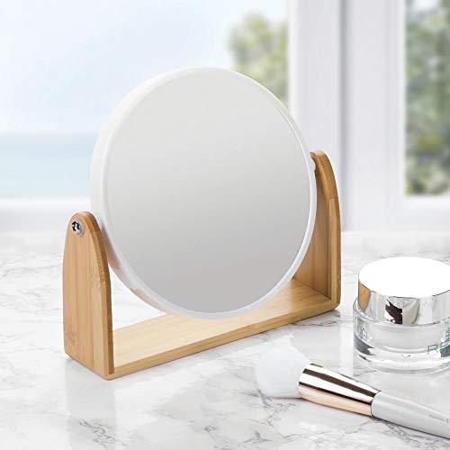 mDesign Specchio Bagno Girevole - Specchietto Rotondo per Camera da ...
