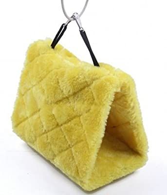 L Size Yellow Bird Hammock Hanging Cage Plush Snuggle Happy Hut Tent Bed Bunk Parrot Toy produced by Hwydo - quick delivery from UK.
