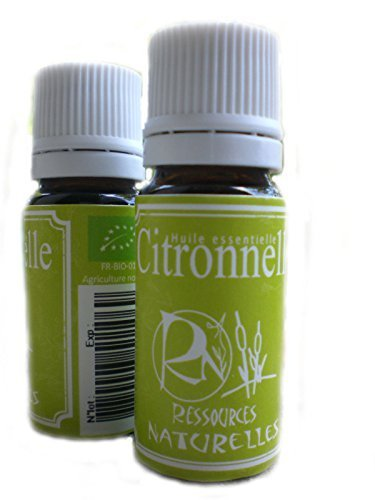 Ressources Naturelles - Huile Essentielle Citronnelle Bio 10 Ml