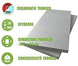 ITALFROM - Pannello da 2 cm di EPS 100 con Grafite per Isolamento Termico Polistirolo Grigio (Confezione da 10 Pezzi)