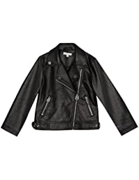 Debenhams Bluezoo Kids Girls' Black Leatherette Biker Jacket