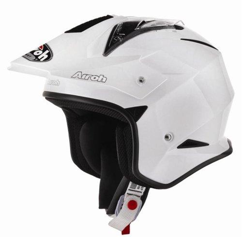 Airoh Motorrad Helm TRR, Weiß  , 56-S (Motorrad-composite-abdeckung)