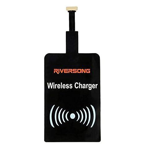 RIVERSONG® Qi chargeur sans fil de charge Module récepteur Patch pour les Smartphones et 5 broches Micro USB Android Mobile Phone - Port