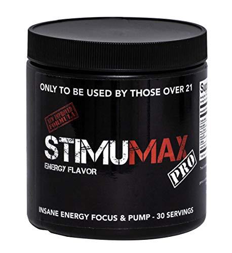 StimuMax Pro Hardcore Pre Workout Trainingsbooster mit L-Citrulline 300g Geschmack Energy