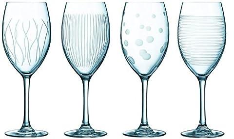 Luminarc 8010905 Lounge Club Verres à Vin Transparent 16,7 x 16,89 x 22 cm Lot de 4