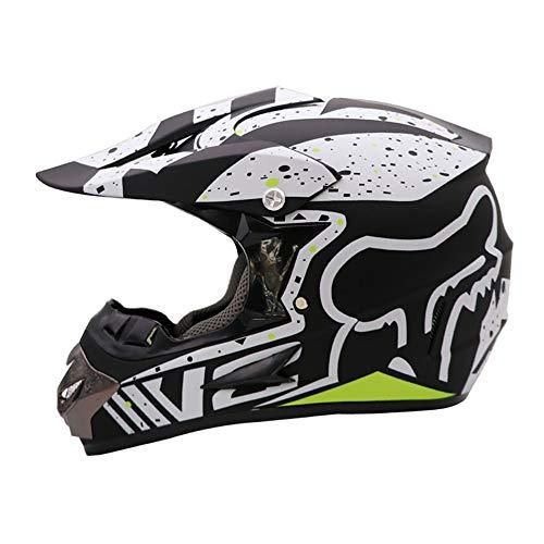 LYDIUY Motocross Helm Kinder Motorrad Set Mit Schutzbrille Handschuhe Maske, Erwachsenen Integralhelm Off Road Sturzhelme FüR Jugendliche MäNner Frauen - Helm Kinder T-shirt