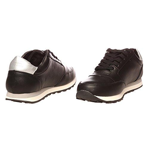 RIFLE Chaussures Femme, Style Course Avec Lacets. mod. 162-W-316-460 Noir argent