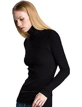 ZKOO Donna Bluse Maglia a Manica Lunga Camicetta Elegante Maglioni Pullover Maglia Tops