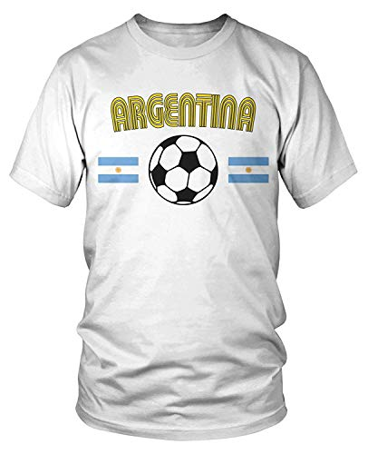 Kostüm Aktivist - Men's Argentina Soccer, Football, Argentine Flags T-Shirt L