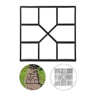 Relaxdays 10025399 Molde Hormigón para Pavimentos, Plástico, Negro, 4 x 40 x 40 cm