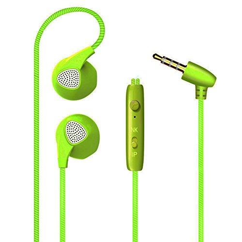 hinmay Wired Handy Kopfhörer Kopfhörer in-Ear mit Mikrofon & Fernbedienung für iPhone 6S/6PLUS/SE/5S, Samsung/LG/Nexus, Android Smartphone MP3-Player grün