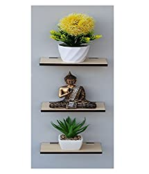 Madhuran Display Wall Dcor Shelf Pine set of 3 12X20 CM / Wooden Decorative Decoration Dining Dark Storage Shelves Stand Slabs Showcase Statues Shower Stellar Mounted Mdf Multipurpose Counter Cupboard Chest Cabinet Home Holder Kitchen Keeping Rectangular Racks Room Ladder Living Floating Brown Black Book Bed Organizer Office Perfect Place Photo Frames Utility Trophy wenge Captiver Series