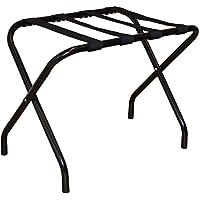 Harbour Housewares Estante maletero plegable de acero inoxidable - Negro