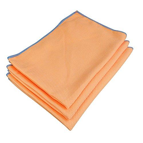 Diamant-Tuch 40x60 cm 3er SET orange