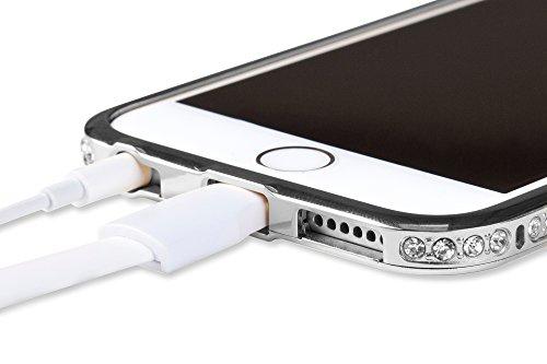 iPhone 6 Cover Case Protettiva - Trasparente - Azzurro - SILICONE - TPU - antiurto, Antigraffio - By SWISS-QA (iPhone 6 6S 4.7) Cover - DIAMOND - Nero
