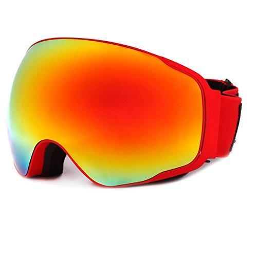Holzsammlung Kreative Überlegen UV400 Schutz Anti-Fog-Radsport Sport Ski-Schneebrillen - Pro-Design für Outdoor-Aktivitäten