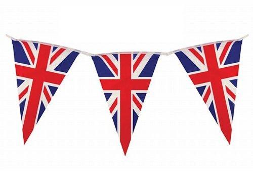 Wimpelkette * British Union Jack * mit 10 Wimpel // Bunting Flag Party Geburtstag Feier Fete Deko Motto Mottoparty Banner Partykette Girlande Fahnenkette England Großbritannien UK GB