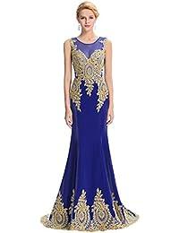 59472140d GRACE KARIN Vestido Largo de Noche para Mujeres Encajes Florales Sirena  Noche Evento Ajustado Elegante 00026